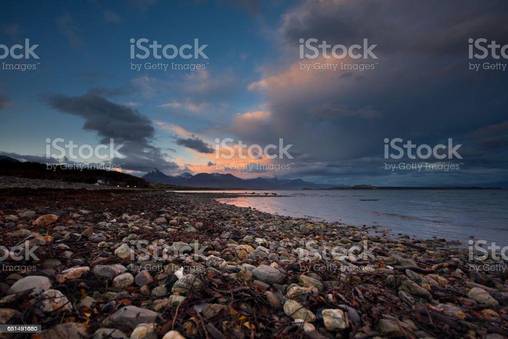 Ushuaia Dawn stock photo