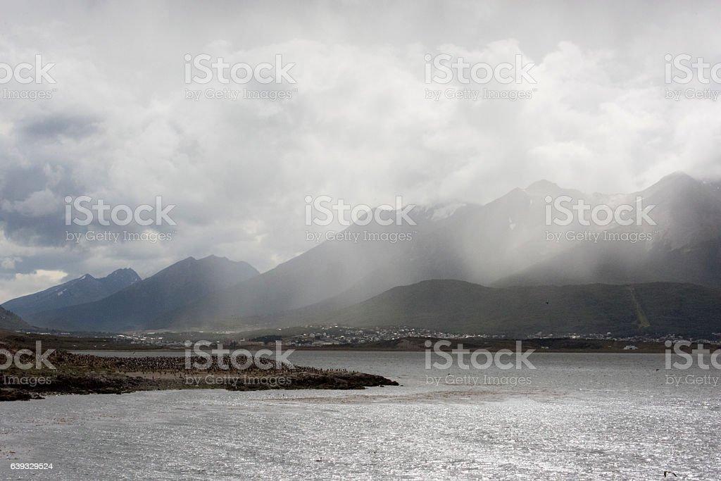 Ushuaia in the Rain stock photo