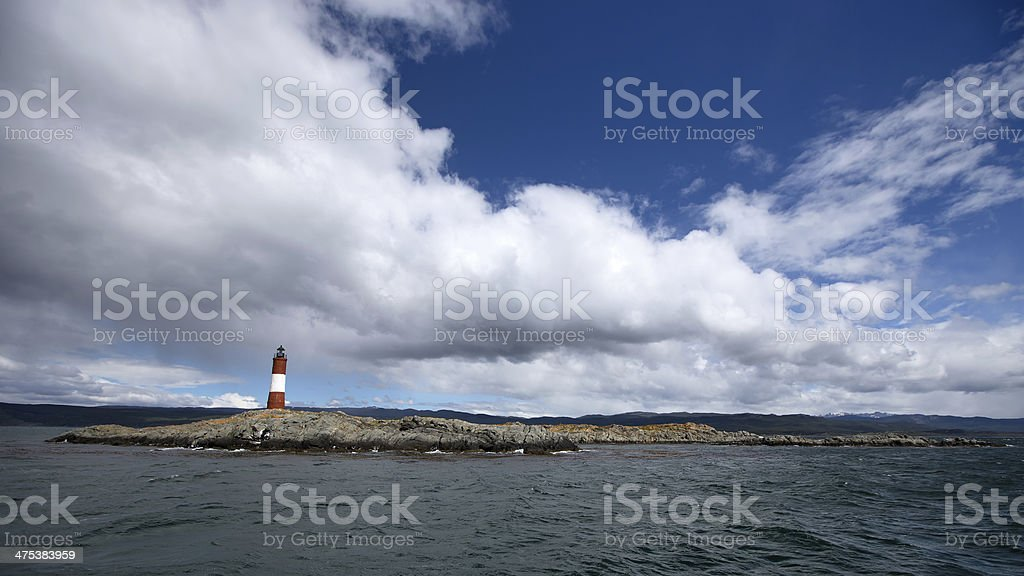 Ushuaia Landscape - Lighthouse in Beagle Channel royalty-free stock photo