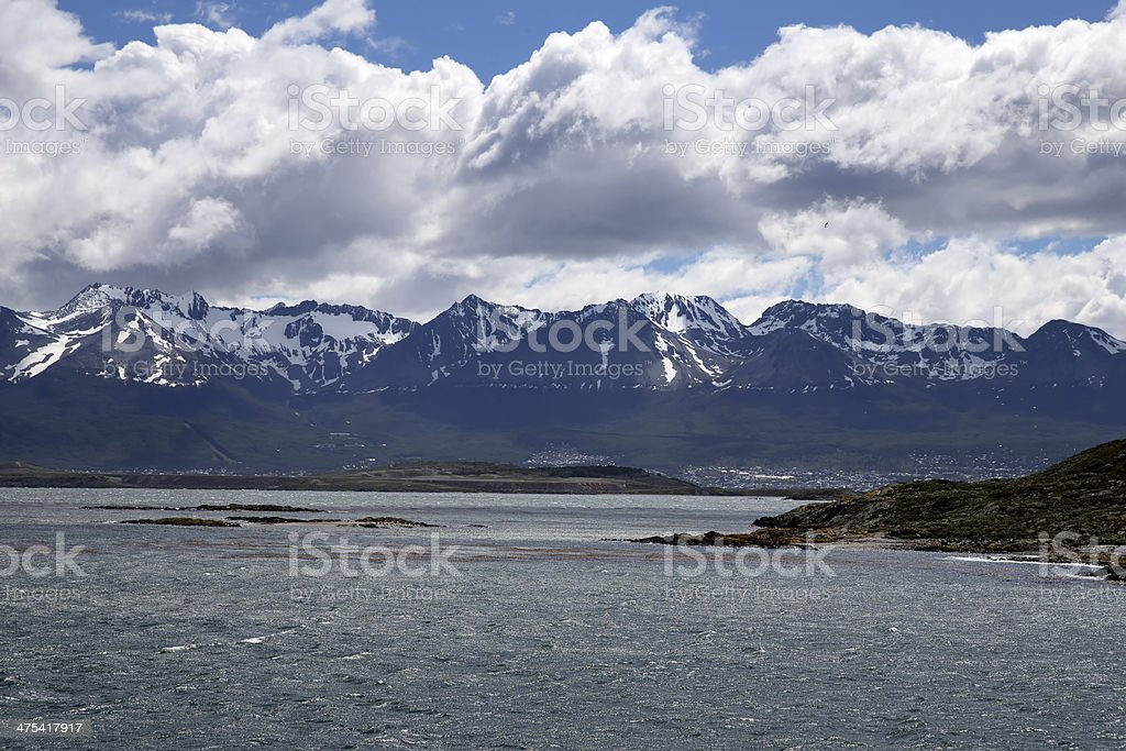 Ushuaia Landscape royalty-free stock photo