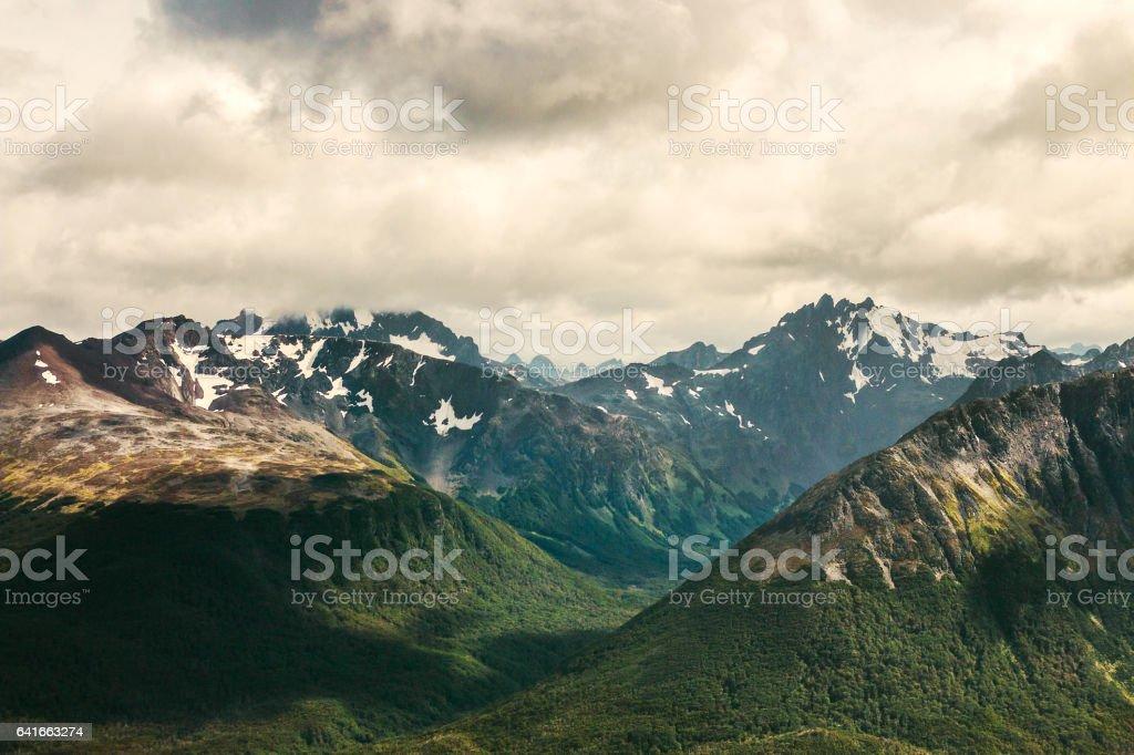 Ushuaia Nature Landscape, Patagonia, Argentina stock photo