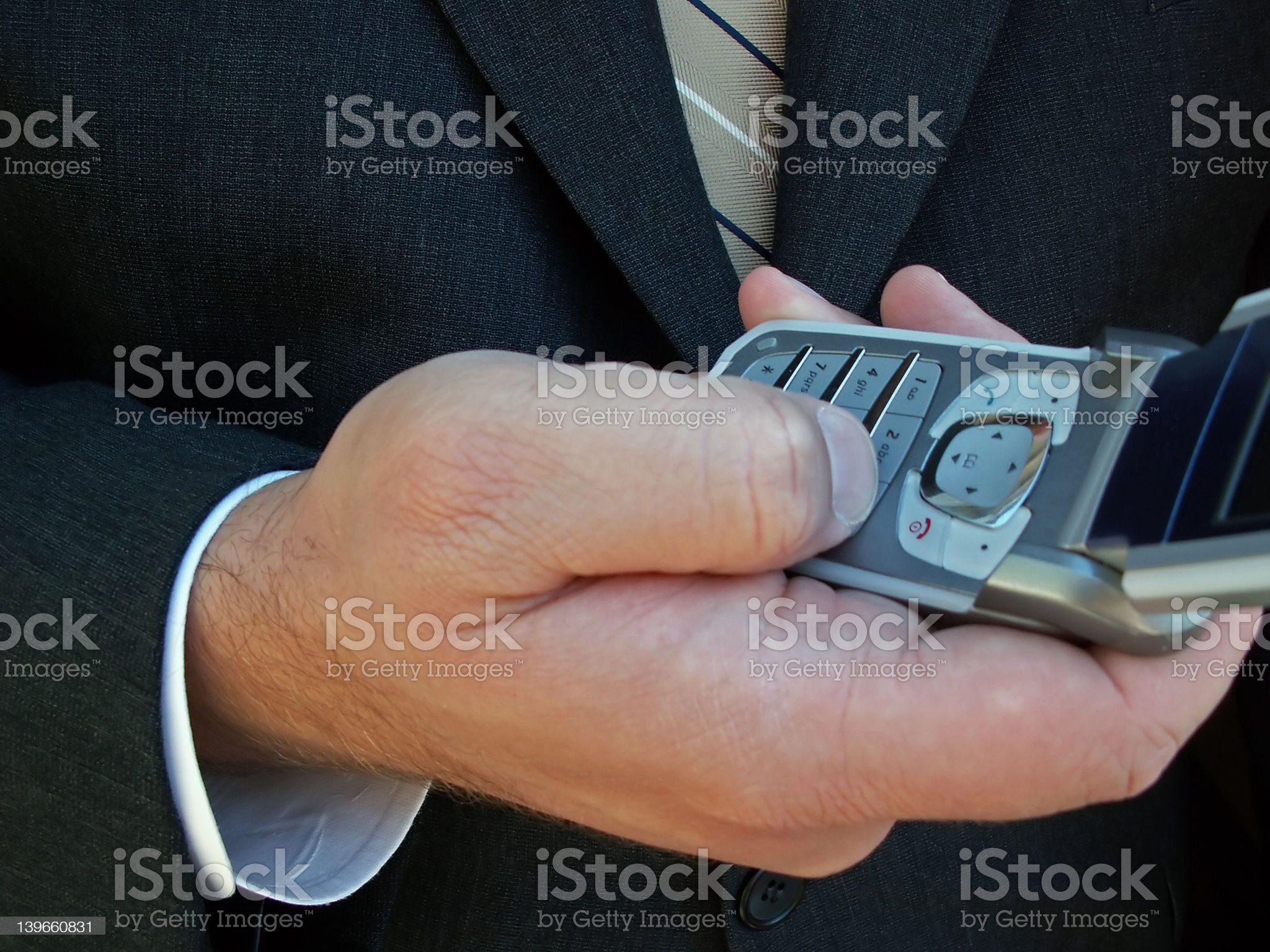 using a cell phone royalty-free stock photo