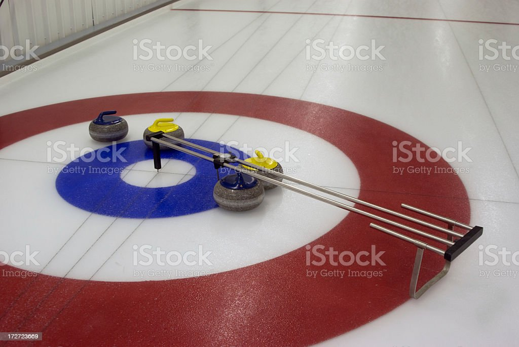 Using a dial indicator to determine a winner. stock photo