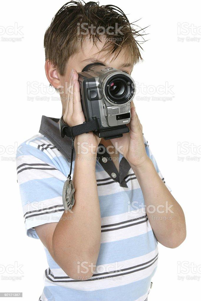 Using a Digital Video camera royalty-free stock photo