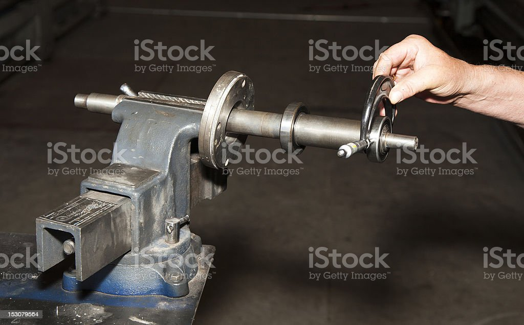 Using a Micrometer royalty-free stock photo