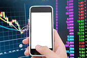 Using a smart phone analysis stock
