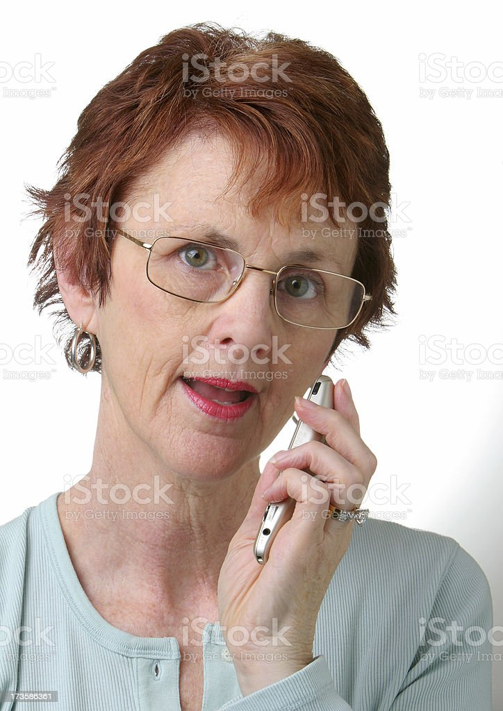 Using a voice recorder. stock photo
