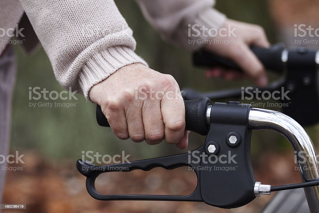 Using a walker royalty-free stock photo