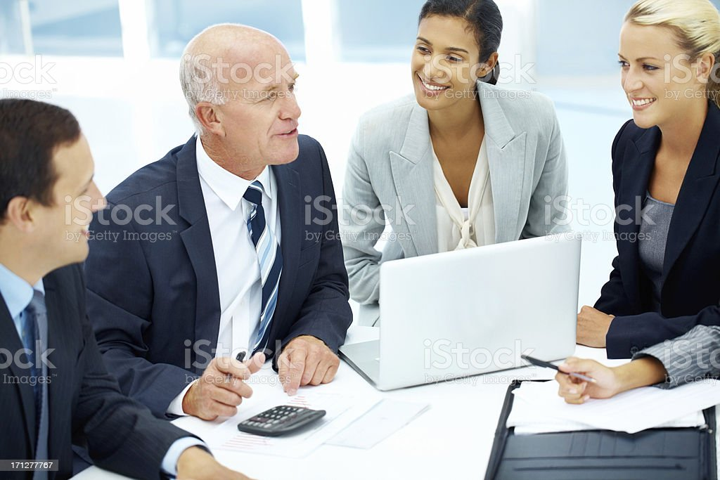 Using all their input to formulate a strategy royalty-free stock photo
