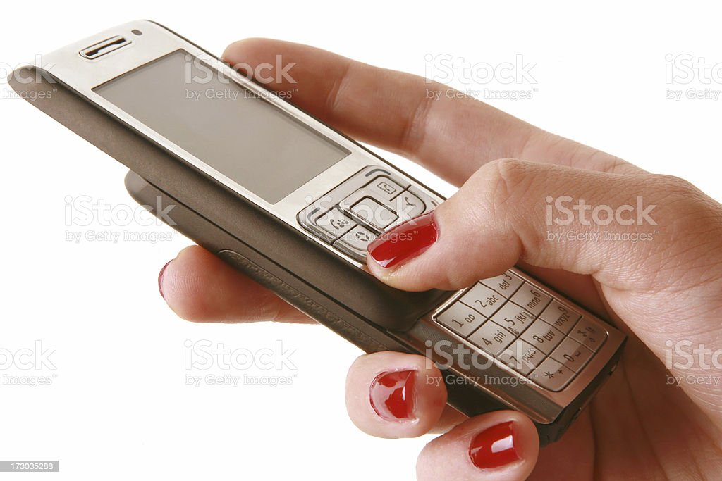 using cell phone royalty-free stock photo