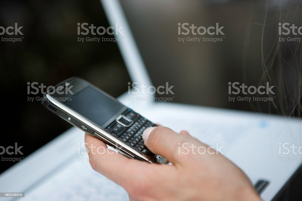 Using cellphone royalty-free stock photo