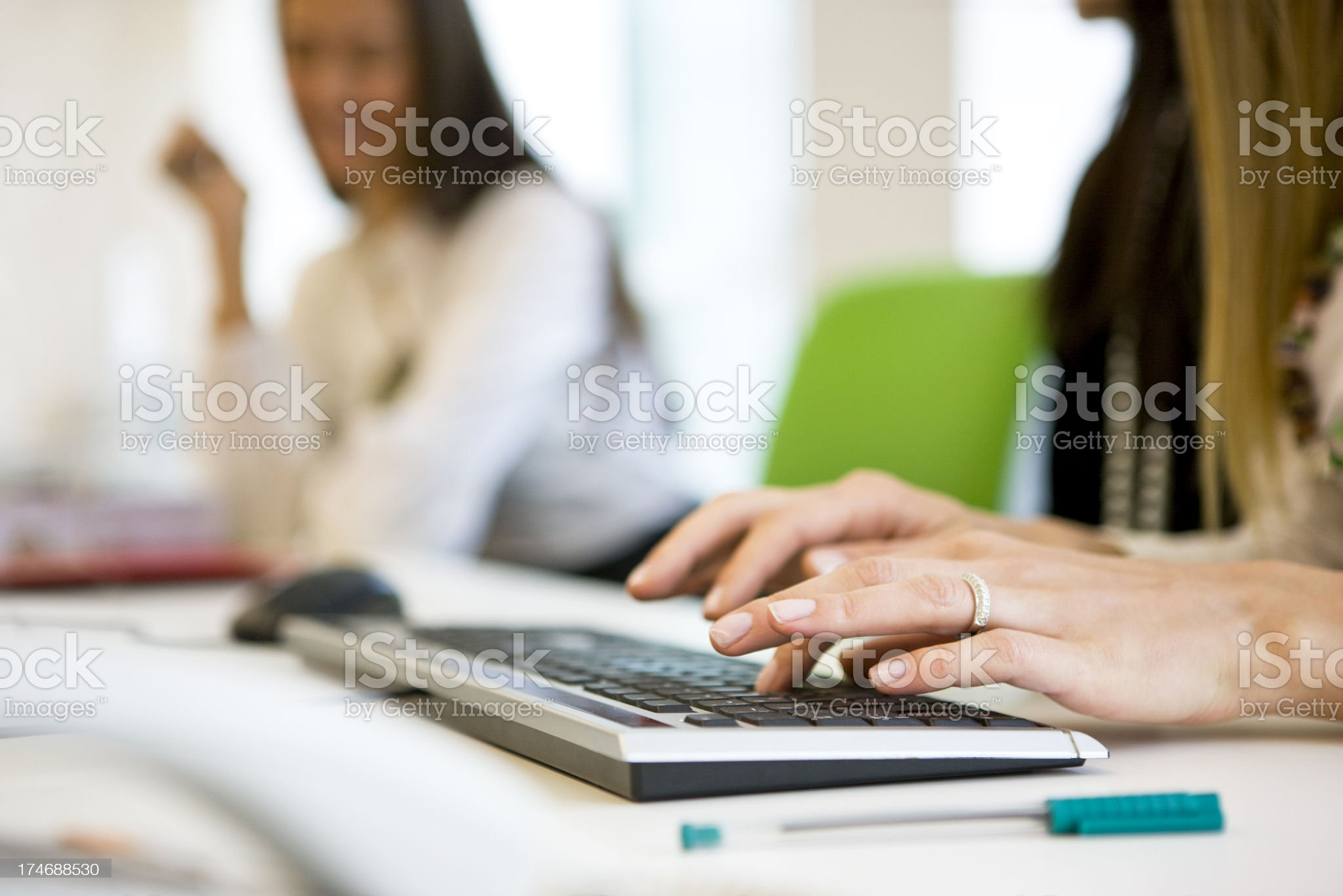 Using computer royalty-free stock photo