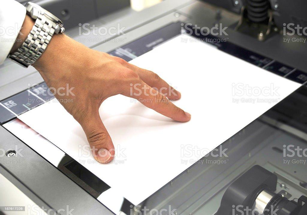 using copier stock photo