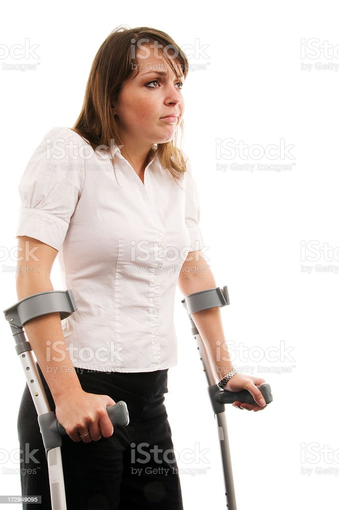 Using Crutches royalty-free stock photo