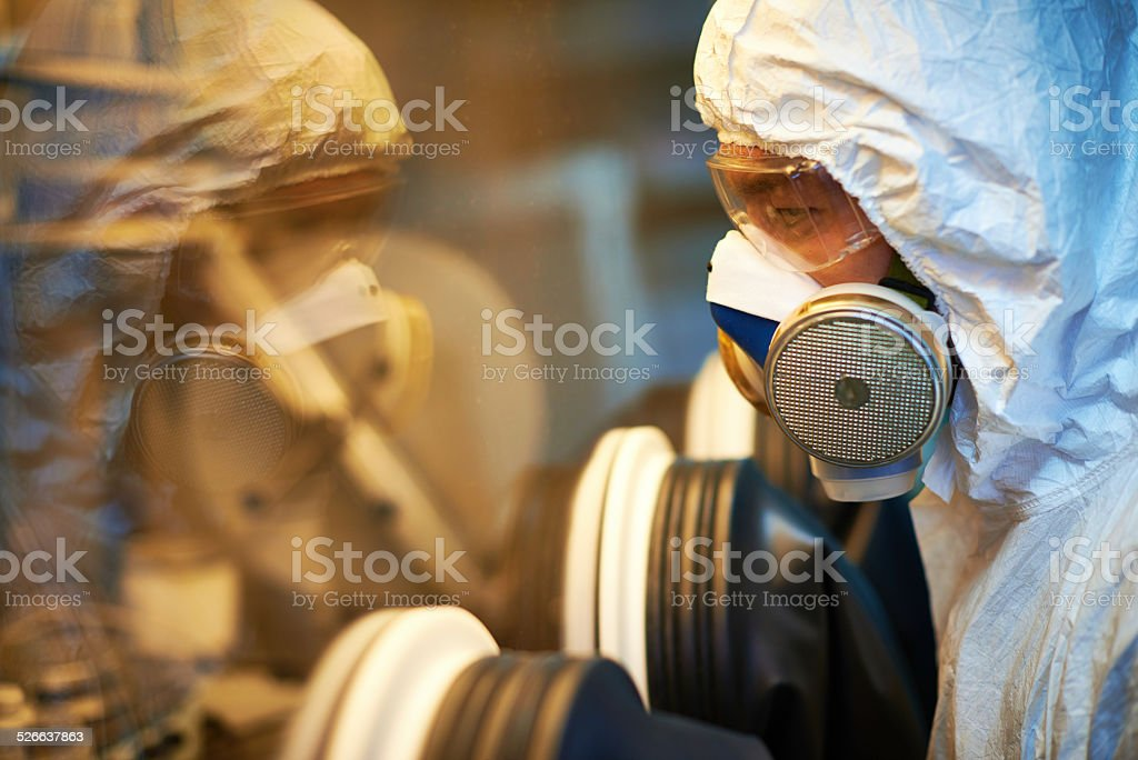Using glove box stock photo