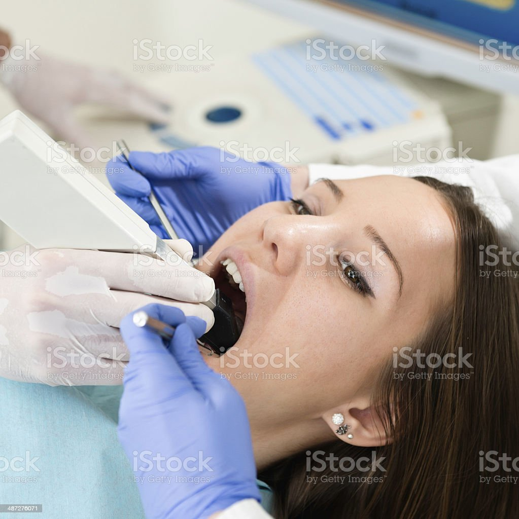 Using intraoral camera royalty-free stock photo