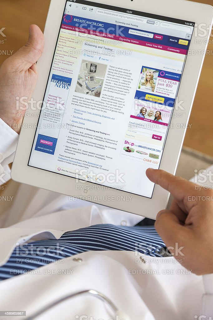 Using Ipad royalty-free stock photo