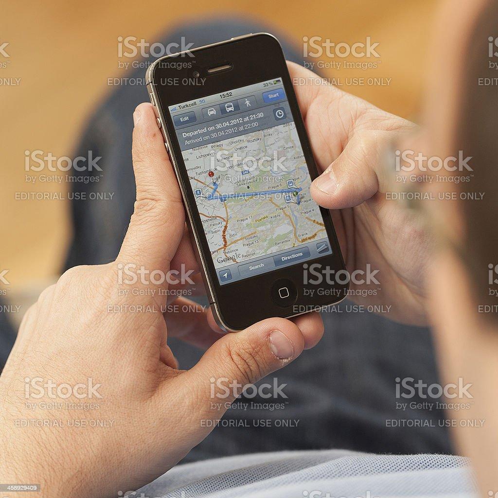 Using iPhone stock photo