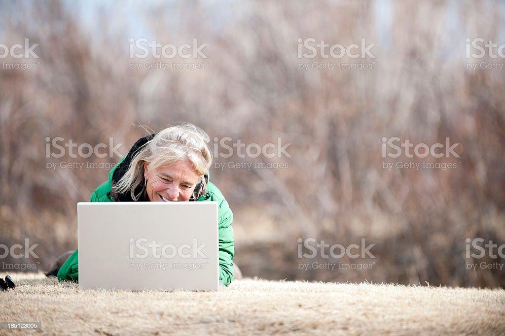 using laptop royalty-free stock photo