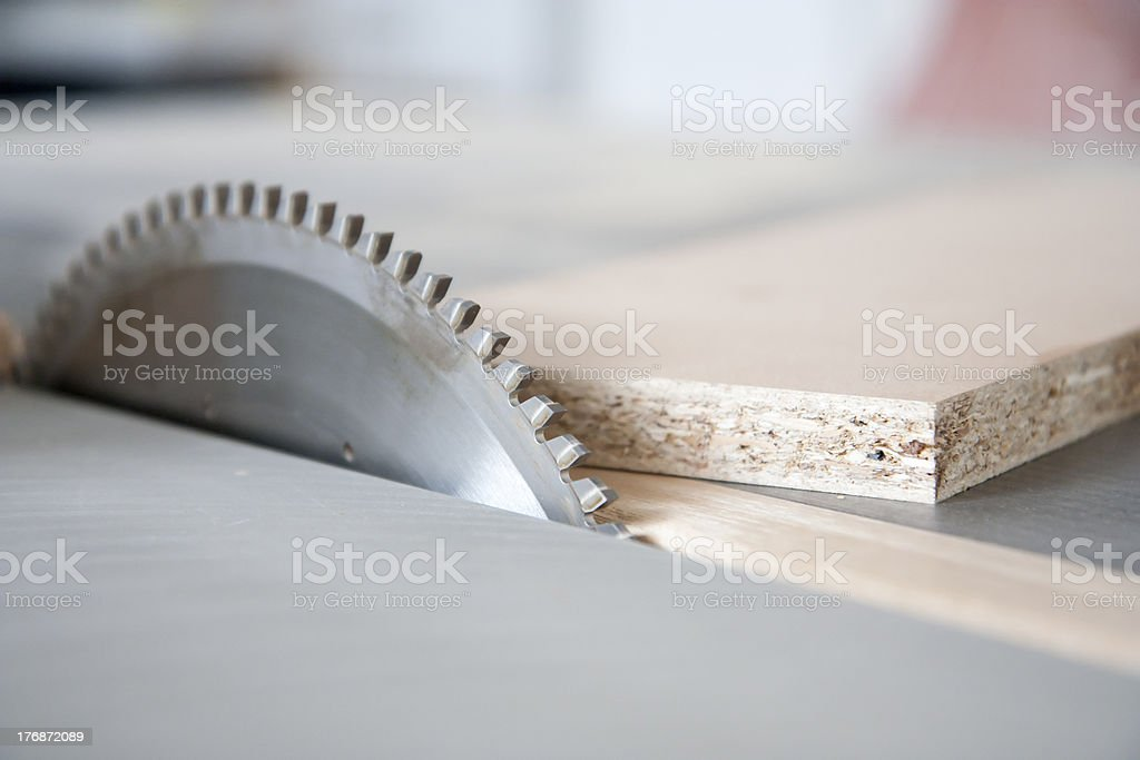 Using machines in joinery royalty-free stock photo