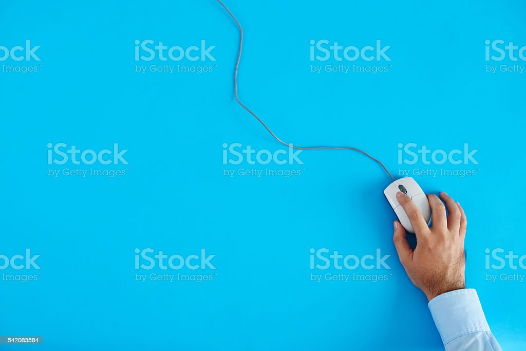 Using mouse stock photo