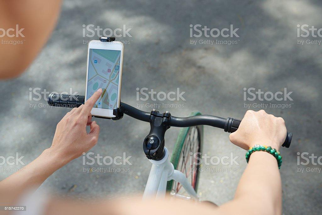Using navigator stock photo