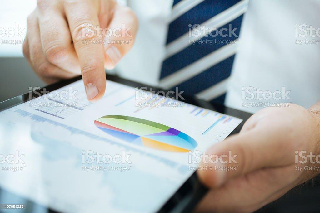 Using of digital tablet stock photo