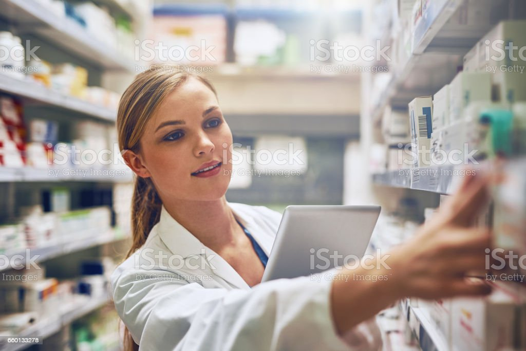 Using online tools to choose the best medication stock photo