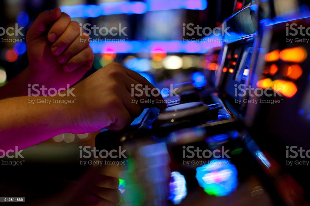 Using slot machine stock photo