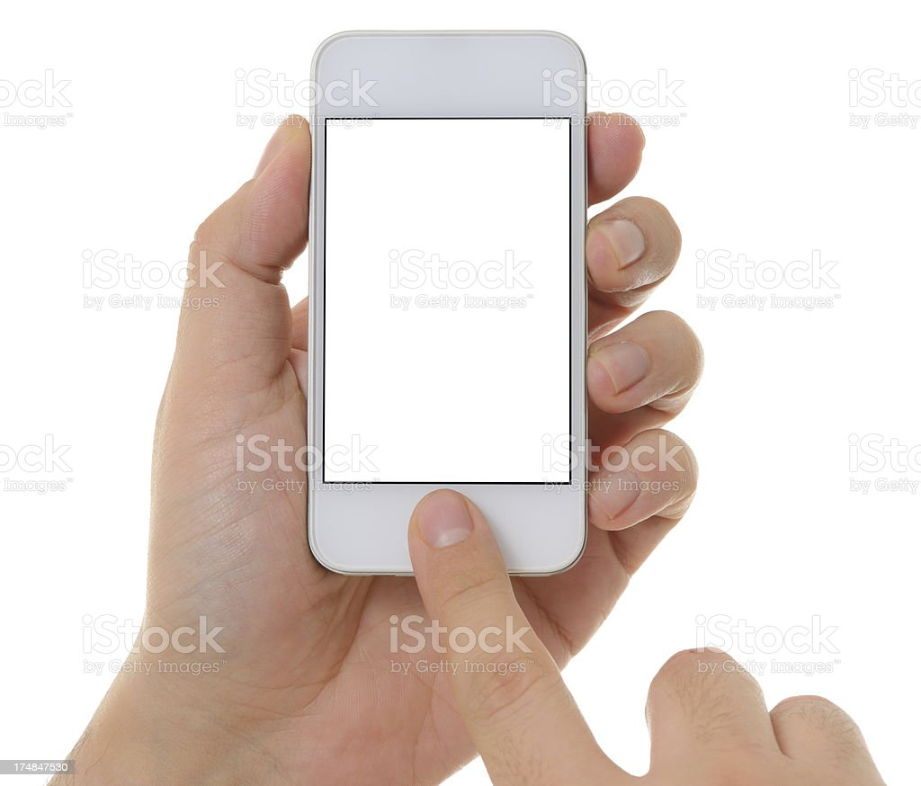 Using smart phone royalty-free stock photo