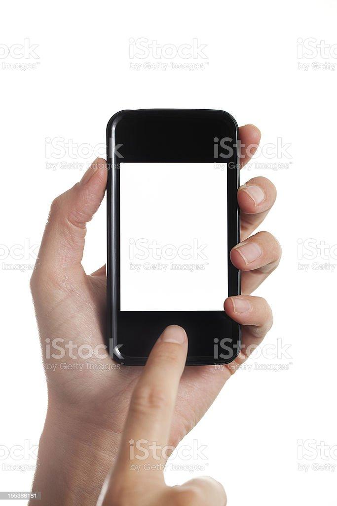 Using Smart Phone XXXL stock photo