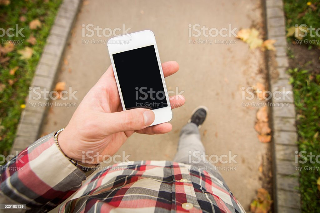 Using smartphone stock photo