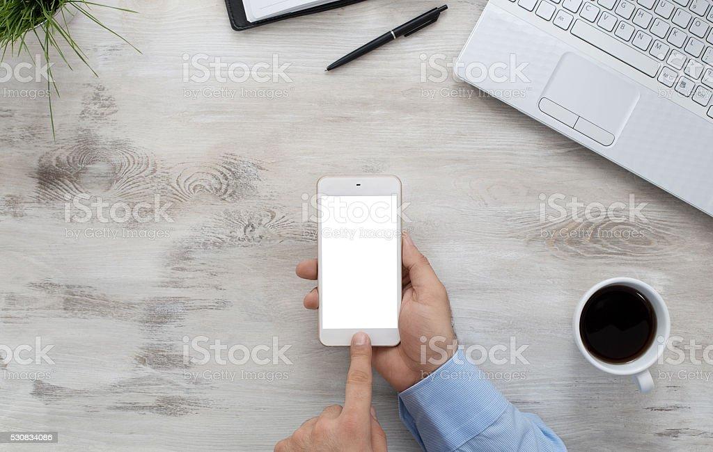 Using smartphone stock photo