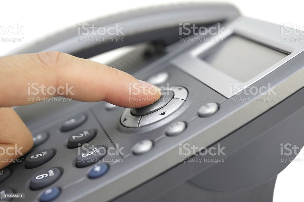 using speaker on phone royalty-free stock photo