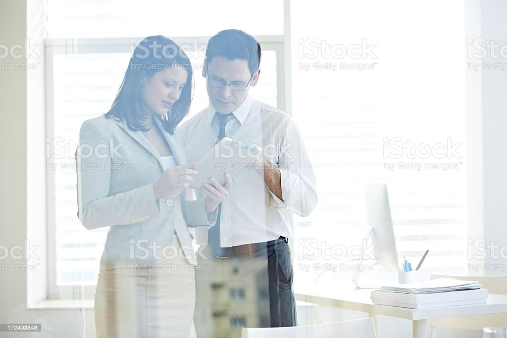 Using tablet pc royalty-free stock photo