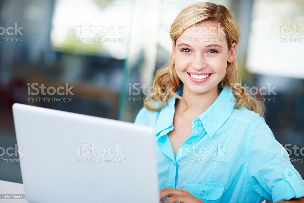 Using technology to boost my grades royalty-free stock photo