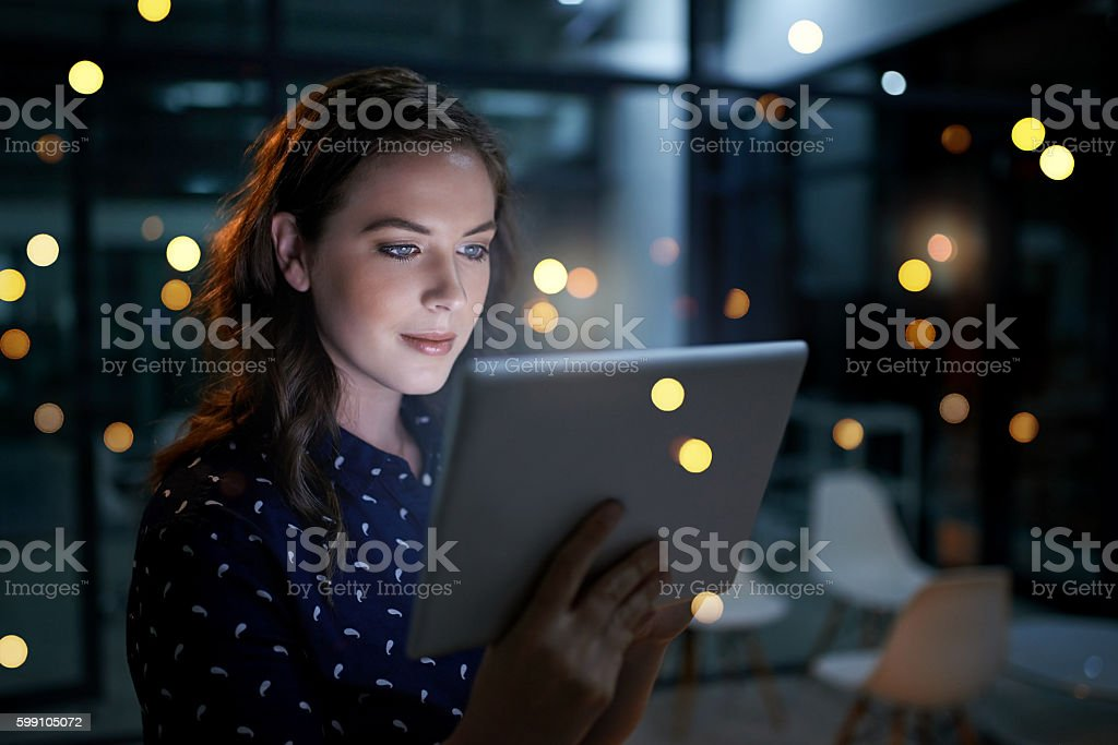 Using technology to stay ahead stock photo