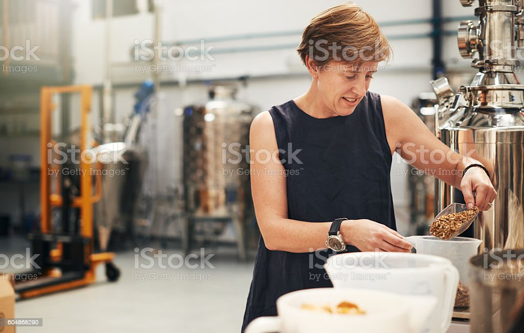 Using the best ingredients for the best taste stock photo