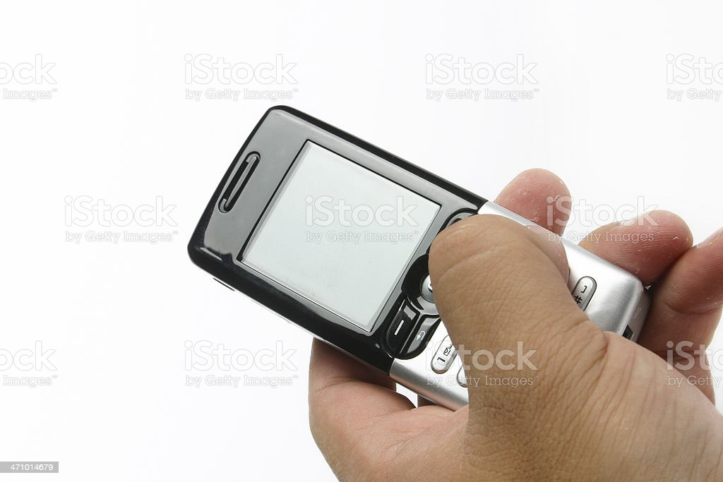 Using the phone royalty-free stock photo