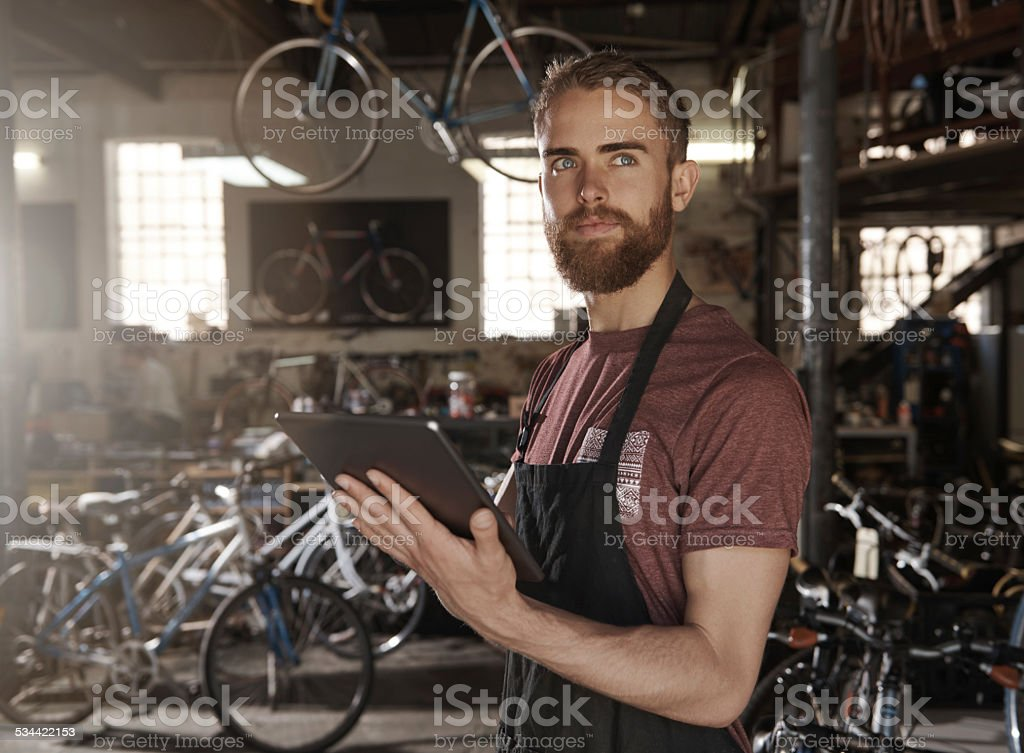 Using to modern technology to grow your dreams stock photo