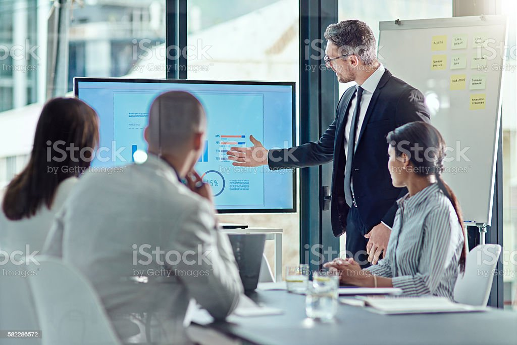 Using visual aid is always a plus stock photo