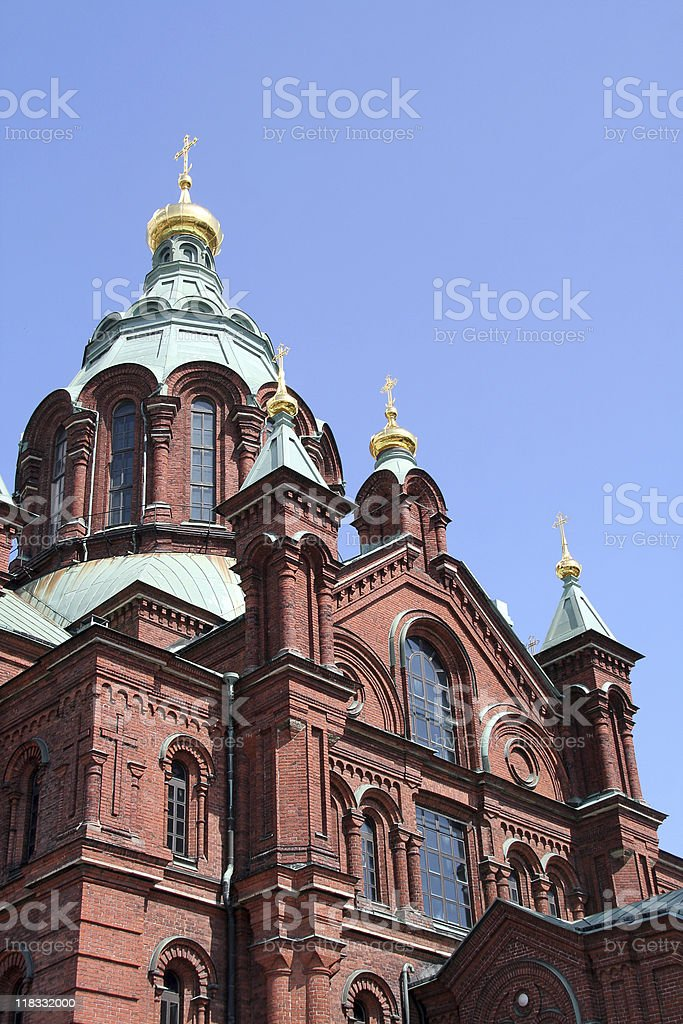 Uspenski Cathedral, Helsinki, Finland royalty-free stock photo