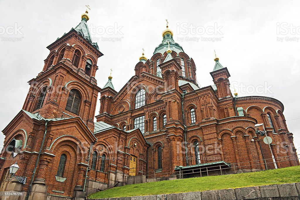 Uspenski Cathedral in Helsinki Finland stock photo