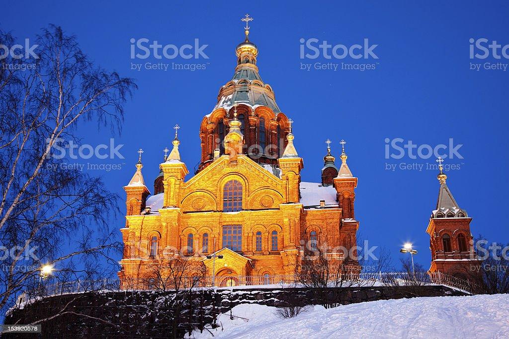 Uspenski Cathedral in Helsinki royalty-free stock photo