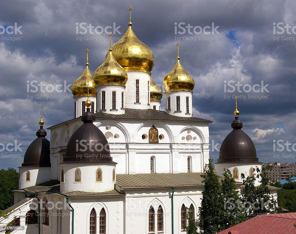 Uspenskii Cathedral in Dmitrov royalty-free stock photo
