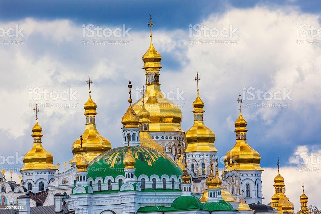 Uspenskiy Cathedral Holy Assumption Lavra Cathedral Kiev Ukraine stock photo