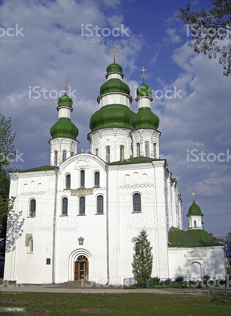 Uspensky Сathedral in Chernigov, Ukraine stock photo