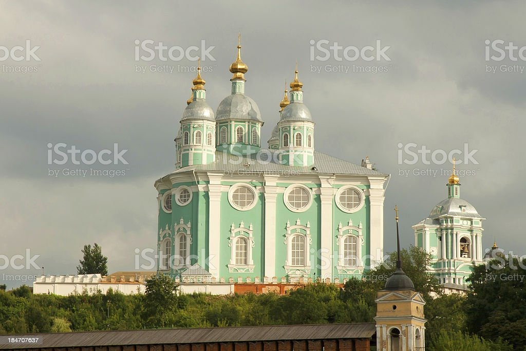 Uspensky Cathedral in Smolensk royalty-free stock photo