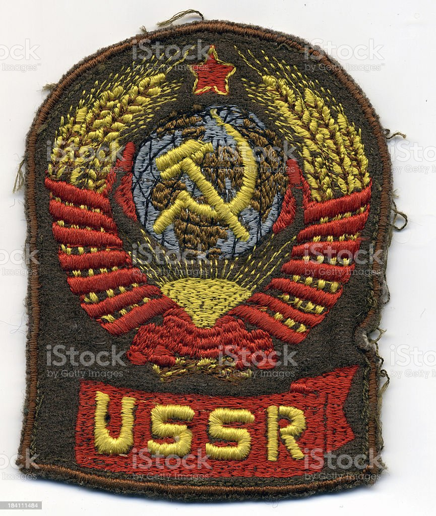 Ussr military badge royalty-free stock photo
