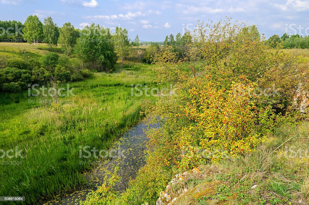 Ustinovskii Canyon, Southern Urals stock photo